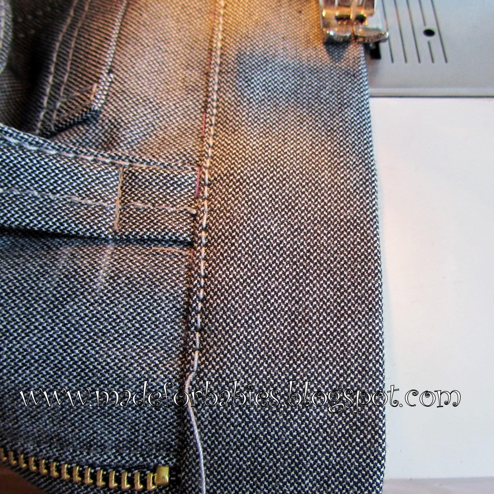Как сшить шлевки на джинсы 92
