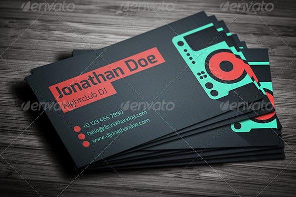 25 dj business cards free download free premium templates customize dj cards pasoevolistco dj business card template reheart Gallery