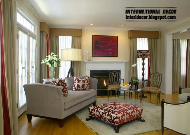ottoman and banquette in tradition living room