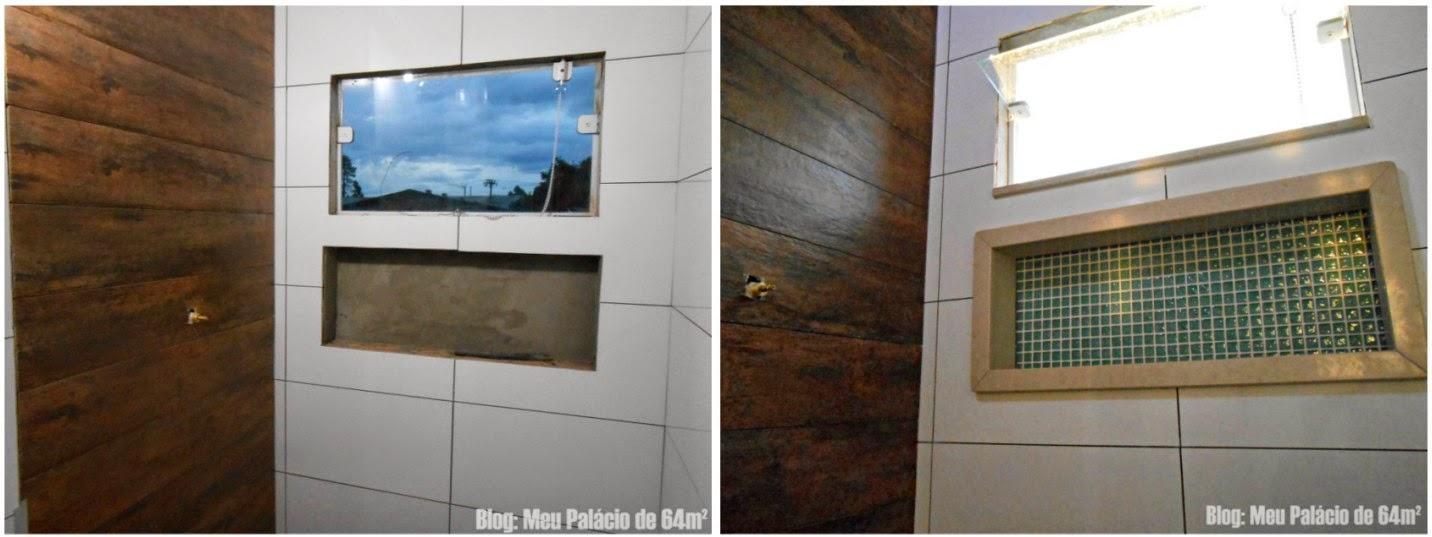 Meu Palácio de 64m² Nicho do banheiro (em detalhes) -> Nicho Banheiro Cerâmica