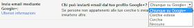 Chi può inviare email Gmail da profilo Google+ Chiunque Cerchie Estese