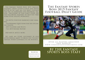 Purchase The 2015 Fantasy Sports Boss Fantasy Football Draft Guide For Only $16.99