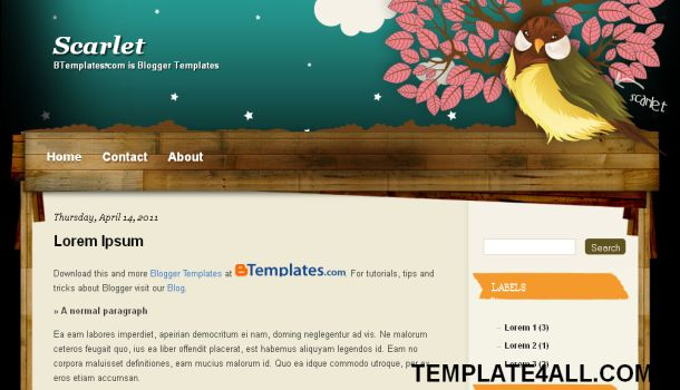 google blogger backgrounds. Nature Blogger Template