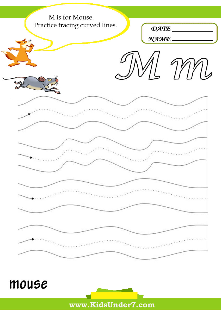 Kids Under 7 Letter M Worksheets – Letter M Worksheets