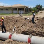 trabajos de alcantarillado en Olanchito