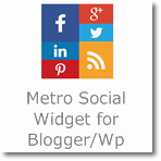 Metro Social Subscription Widget for Blogger/Wordpress