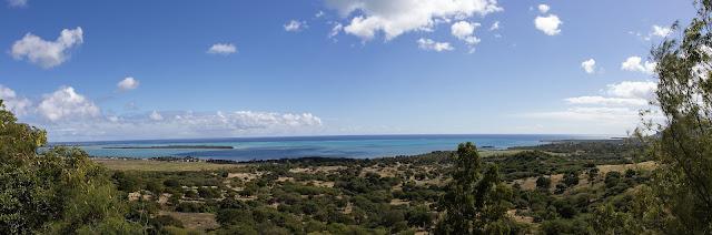 panorama depuis la route de Chamarel