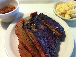Bodacious Bar-B-Q BBQ Barbecue Barbeque Arlington Dallas DFW Texas Combination Plate Brisket Ribs