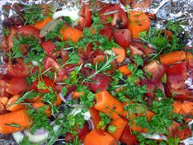 Tomatoes Carrots Herbs Salad