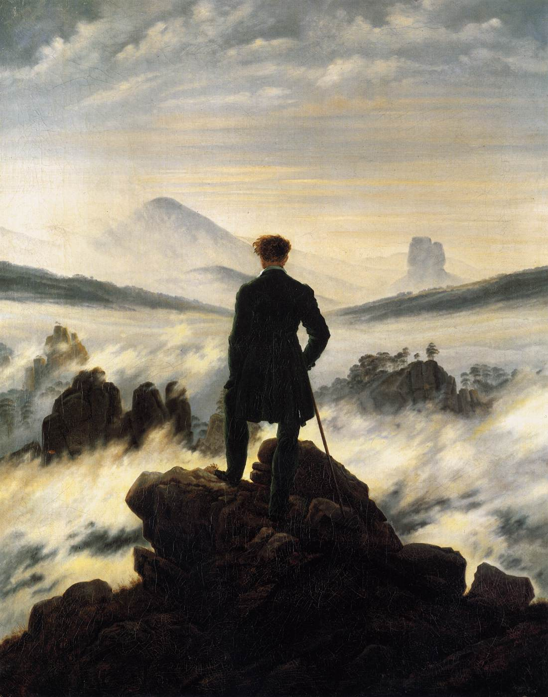 today in social sciences the wanderer above the sea of fog by friedrich. Black Bedroom Furniture Sets. Home Design Ideas