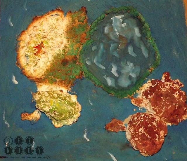 dziecko na warsztat, wyspy wulkaniczne, masa papierowa