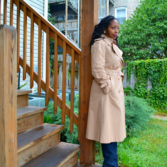 thrift a vintage trench coat