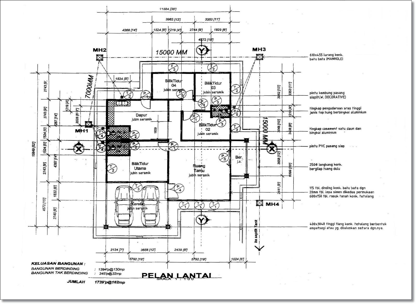 Pin Rumah Banglo Setingkat Architecture And Post Pelan Lantai Kamistad ...