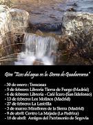 """Fechas de presentación de libro """"Ecos del agua en la Sierra de Guadarrama"""""""