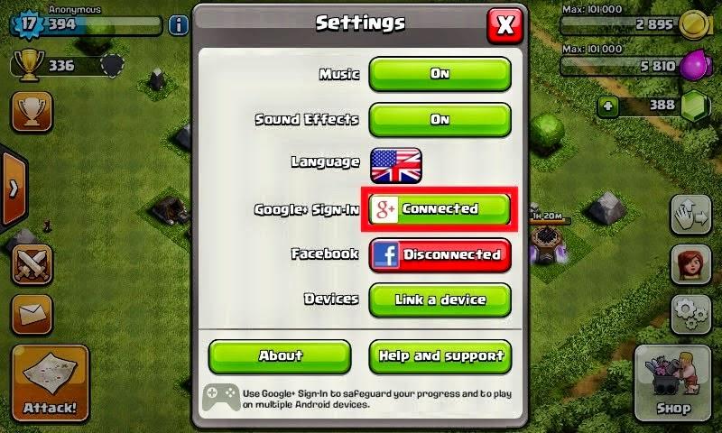 Cara Bermain Clash of Clans Dengan 2 Akun Di Android