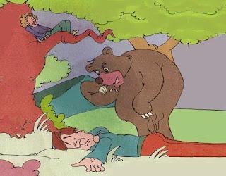 I due amici e l'orso (Esopo)