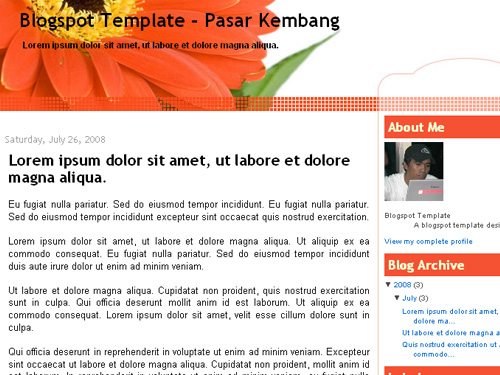 News Blogger Template : Pasar Kembang