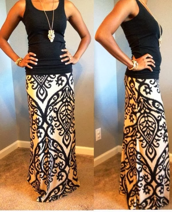 Amazing Candlelight Maxi Dress and Black Top