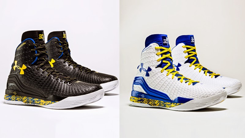 Warriors' Stephen Curry shows off new Under Armour shoes for Finals