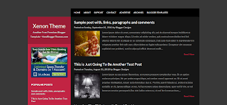 Xenon Blogger Template Is a Wp To Blogger Converted Free Blogger Template