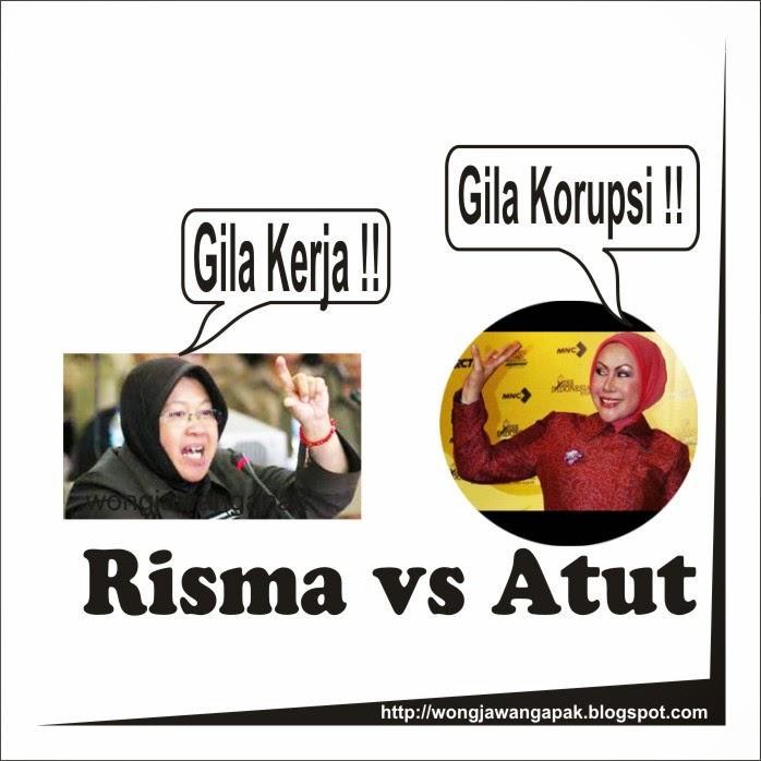 Gambar Lucu Gokil Risma vs Ratu Atut