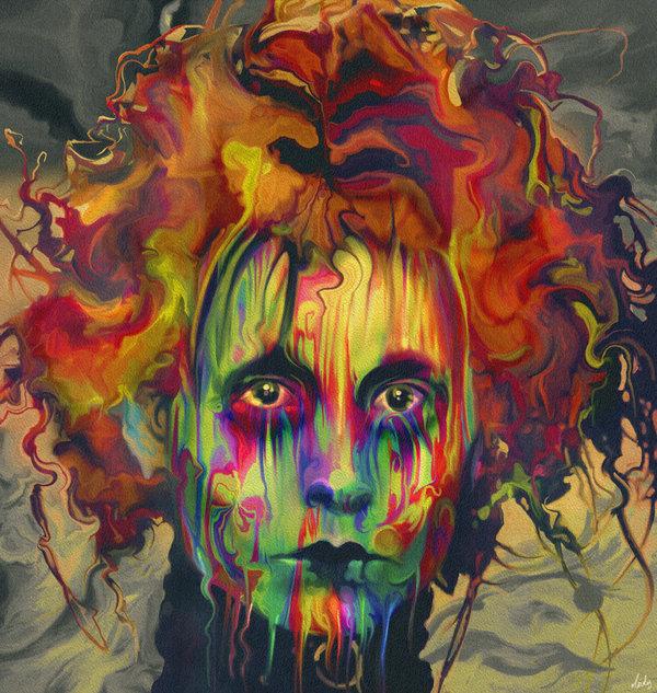 08-Edward-Scissorhands-Johnny-Depp-Nicky-Barkla-Psychedelic-Celebrity-Portrait-Paintings-www-designstack-co