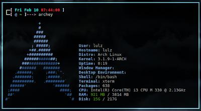 archey arch linux ubuntu