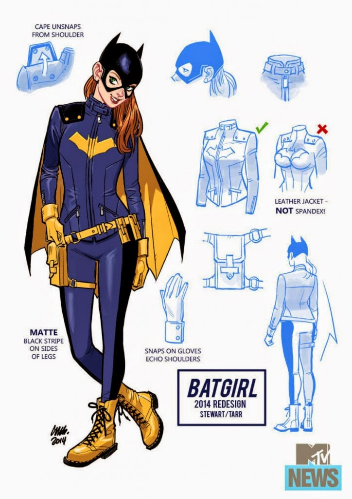 Batgirl gets completely new leather costume