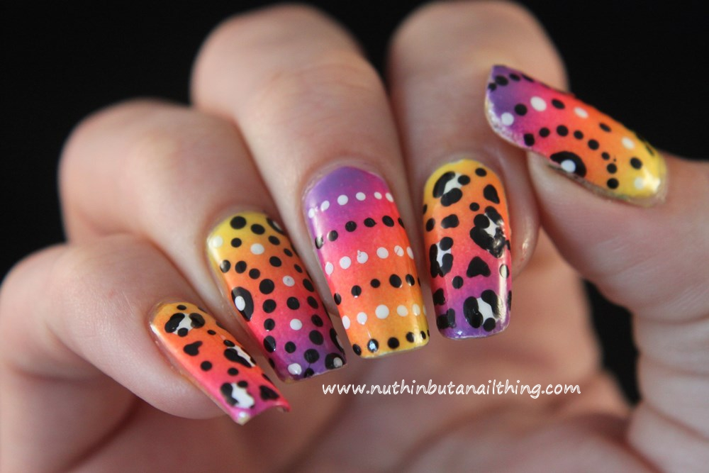 nuthin\' but a nail thing: Colourful skittle nail art