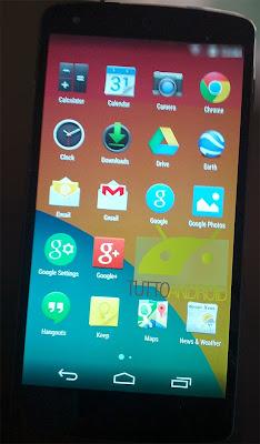 Nexus 5 and KitKat App drawer