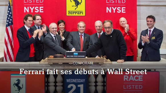 Introduction en Bourse de Ferrari