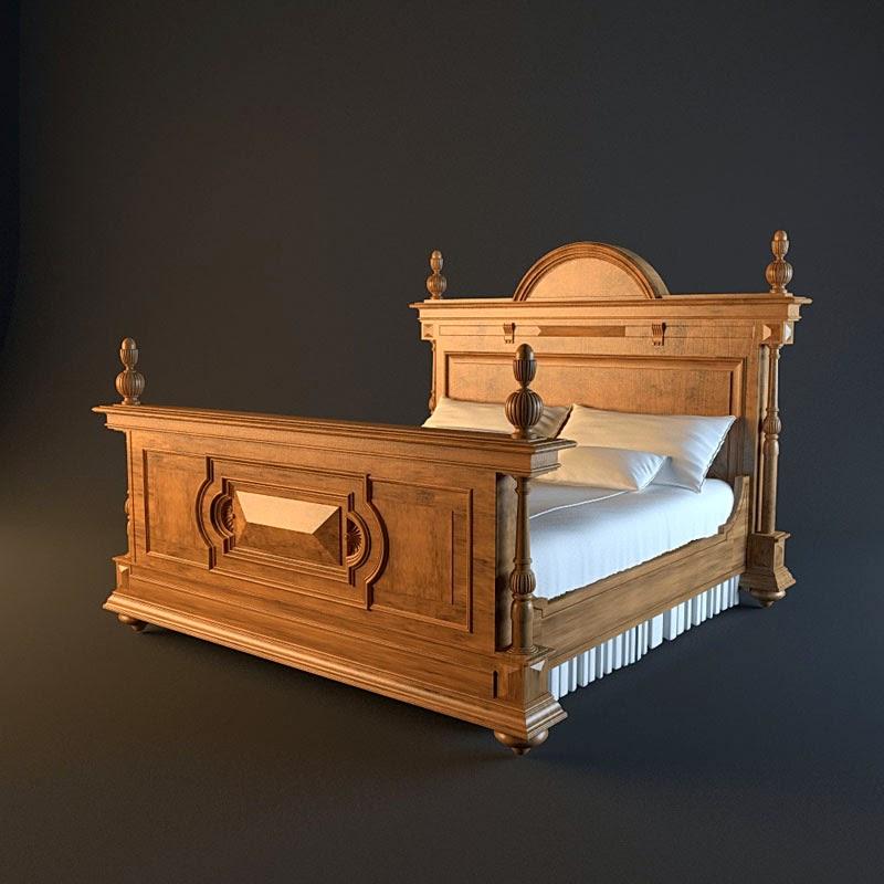موديلات 3d لسرير النوم وأشكال مختلفة Francesco+molon+H+81