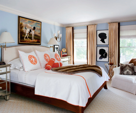 July 2011 la dolce vita - Orange and light blue bedroom ...