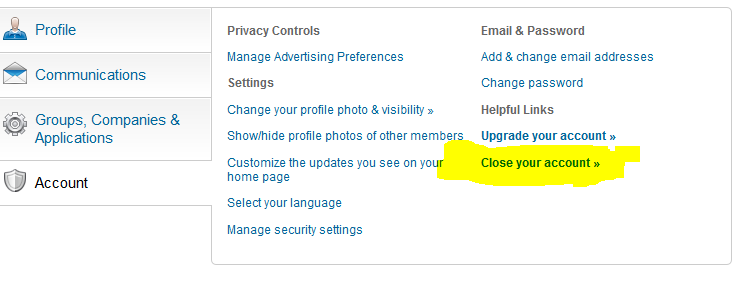 How to Delete Linkedin Account Permanent : 2 Steps