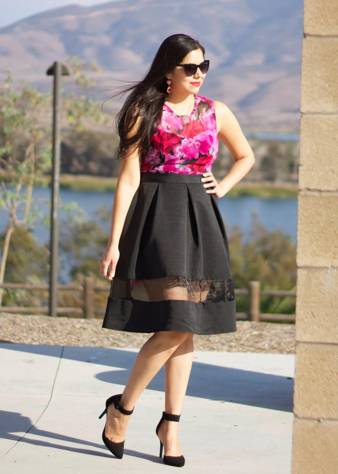 Forever 21 rose print dress