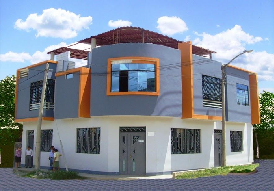 Fachadas y casas lindas casas ubicadas en esquinas for Fachadas de casas modernas en la ciudad