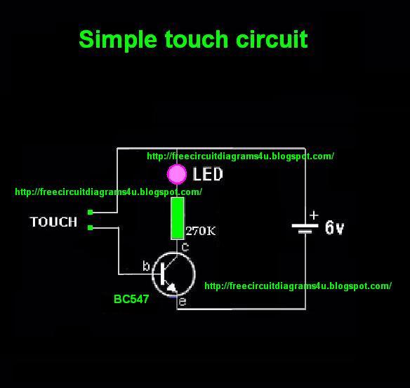 Free Circuit Diagrams 4u  Touch Sensitive Circuit Diagram