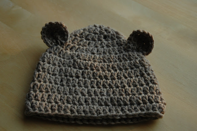 Little bear crocheted cap