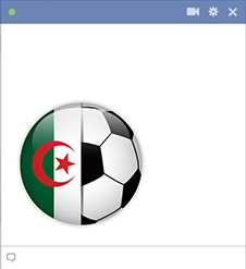Algeria football emoticon