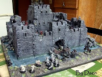 Makieta bitewna ruin zamku