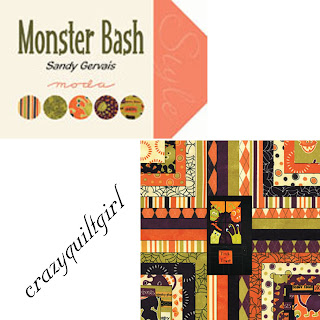 Moda MONSTER BASH Halloween Quilt Fabric by Sandy Gervais
