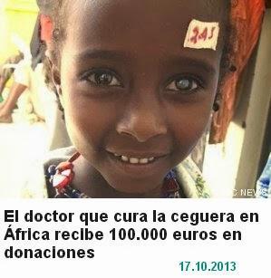 Donaciones para operaciones de cataratas en África