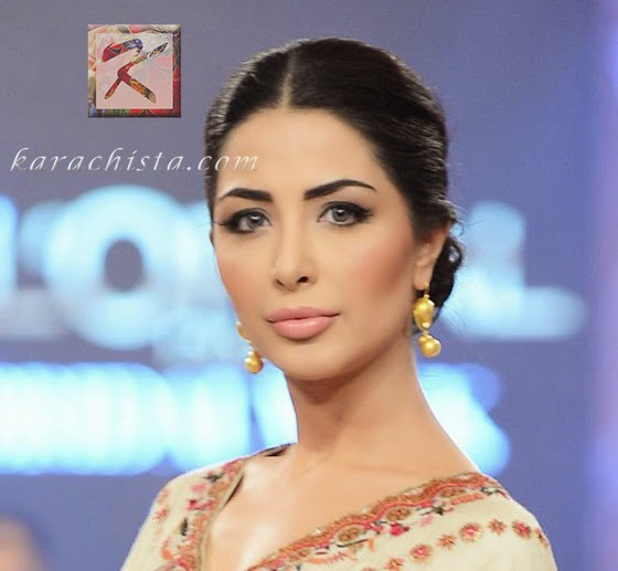 Pakistani Bridal Hair and Beauty Trends 2014 from fashion week - Nabila for Misha Lakhani