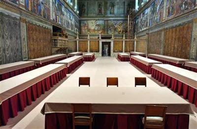 Sistine Chapel prepared conclave