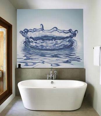 revestir paredes baño mosaicos