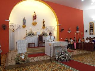 Imágens da Missa de Ano Novo na Matriz em Almino Afonso