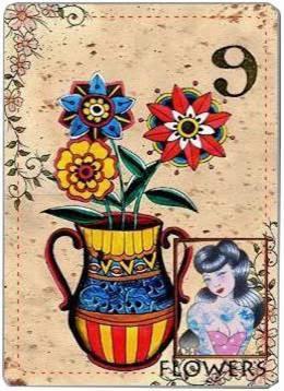 carta de lenormand 9 flores