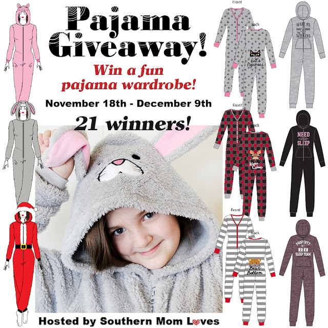 Enter to be 1 of 21 Winners! Women's Onesie PJ Wardrobe #Giveaway Event by 12/9