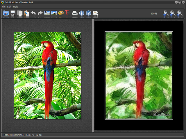 FotoSketcher 2.42 - Main Interface