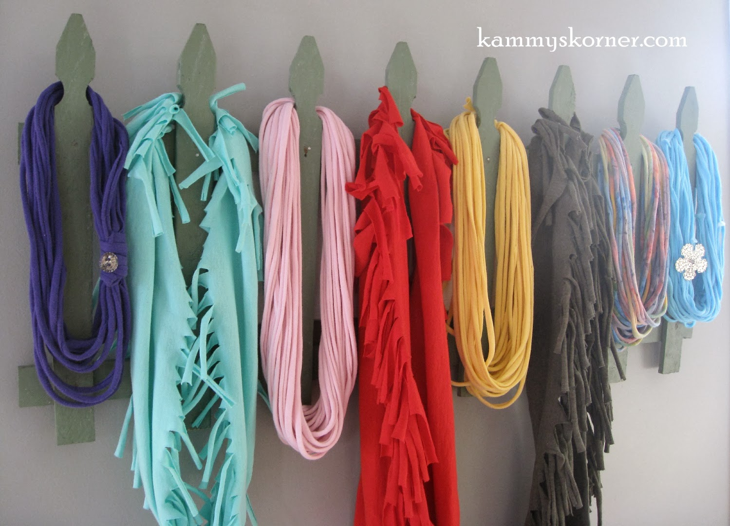 Kammy's Korner: Scarf Holder. Scarf Hanger. Scarf Rack. From Junk.